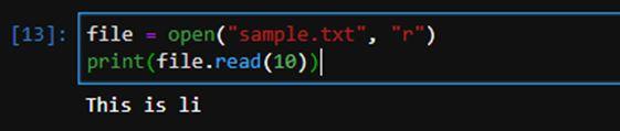 Python File Readline 10