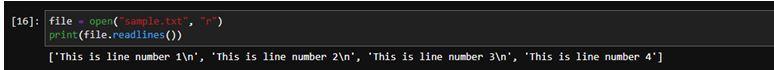 Python File Readline 11