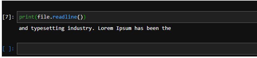 Python File Readline 7