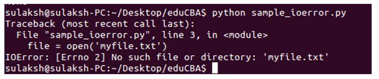Python IOError 1