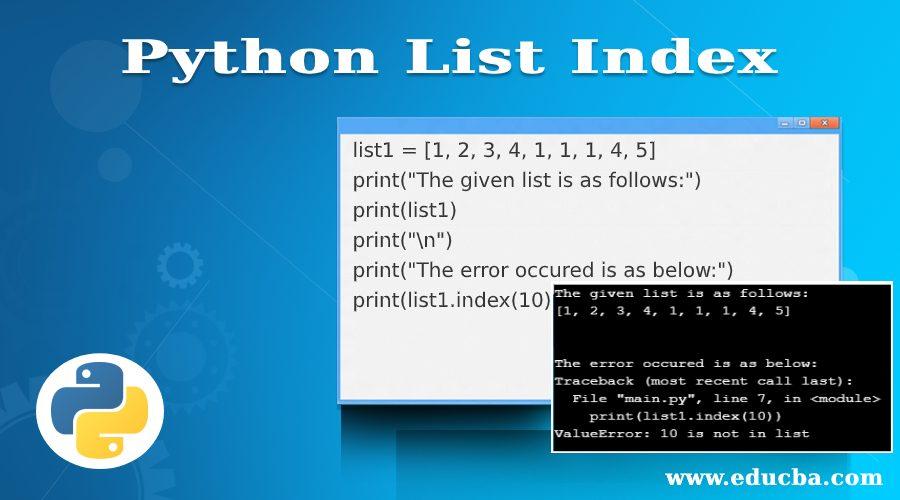 Python List Index
