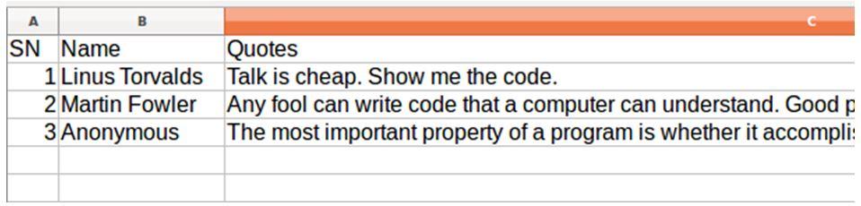 Python write CSV file 2