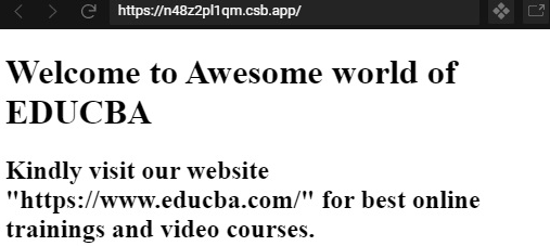 Welcome to Educba