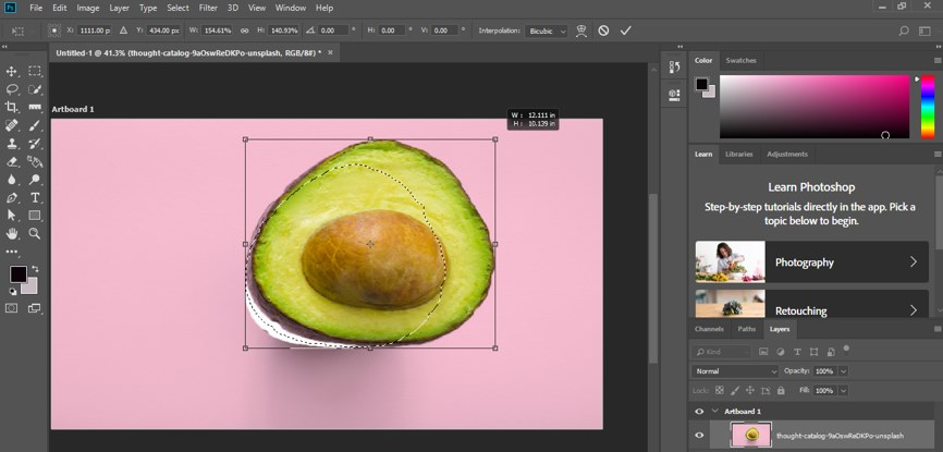 Resize Object in Photoshop - 10