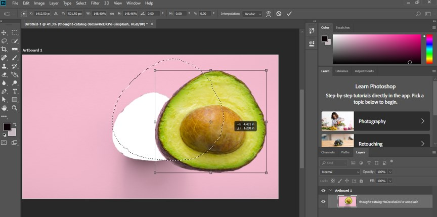 Resize Object in Photoshop - 11