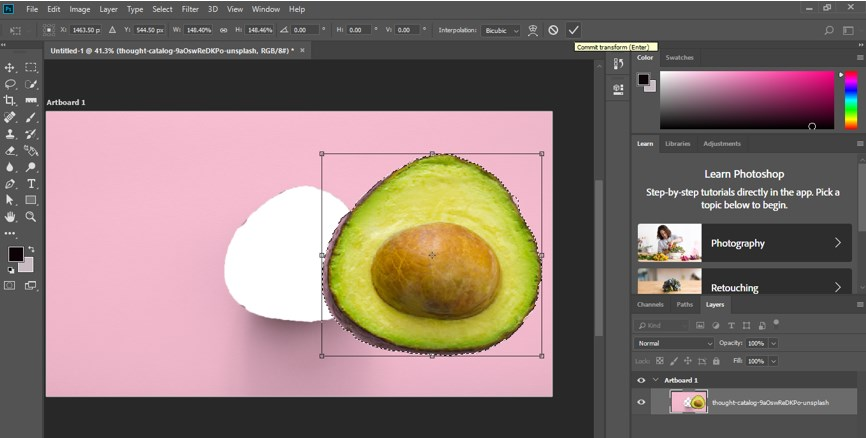 Resize Object in Photoshop - 12