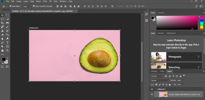 Resize Object in Photoshop - 17