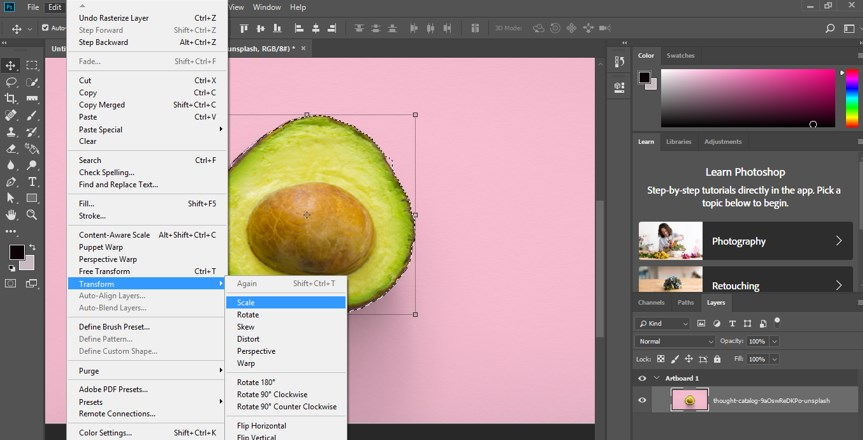 Resize Object in Photoshop - 8