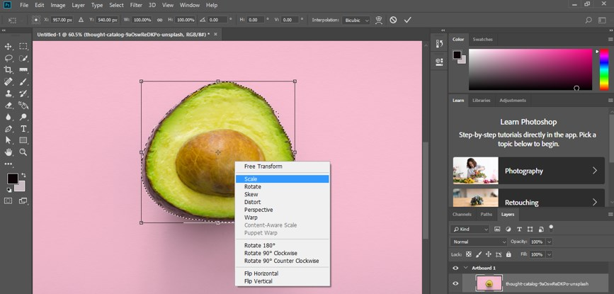 Resize Object in Photoshop - 9