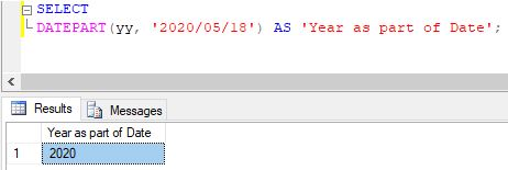 SQL DATEPART()1