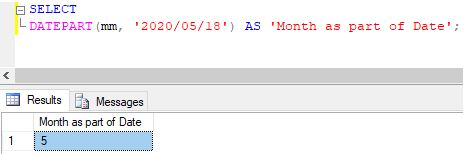 SQL DATEPART()2