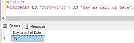 SQL DATEPART()3