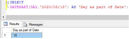 SQL DATEPART()4