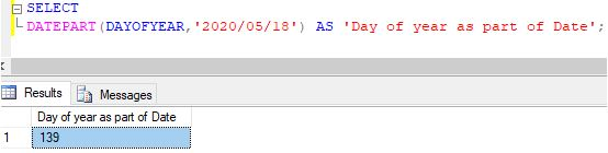 SQL DATEPART()5