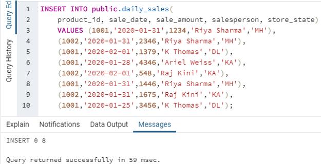 SQL LEAD() - 2