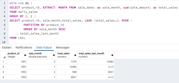 SQL LEAD() - 6