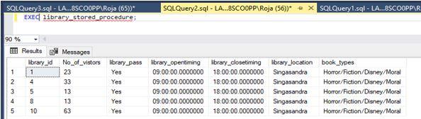 Stored Procedure in SQL3