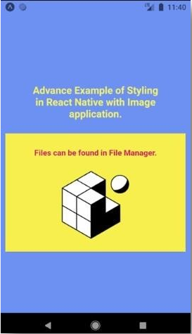 Styling in React native Example 3