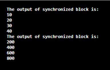 Synchronized Block in Java-1.1