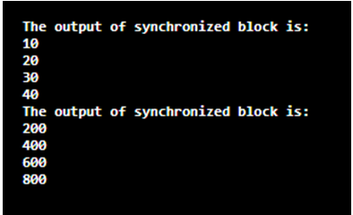 Synchronized Block in Java-1.2
