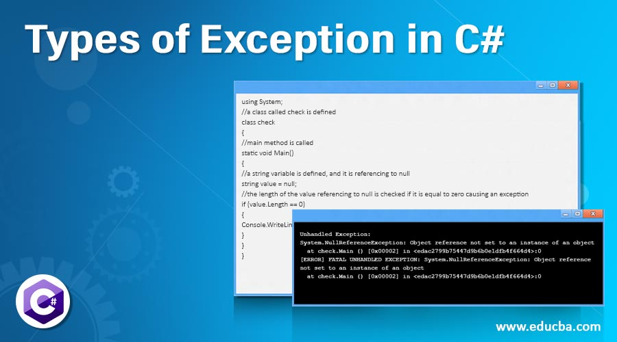Types of Exception in C#
