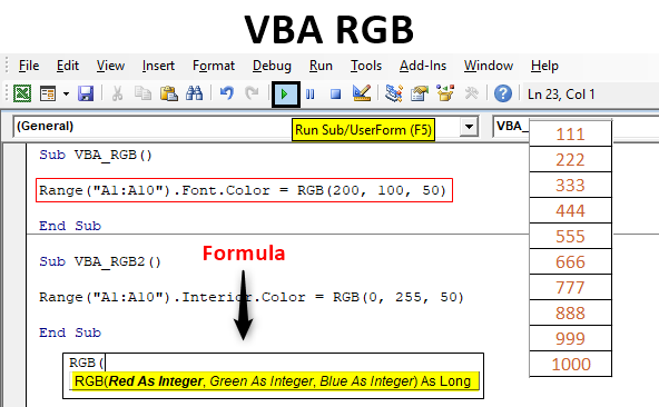 VBA RGB