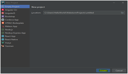 WebStorm IDE Example 2