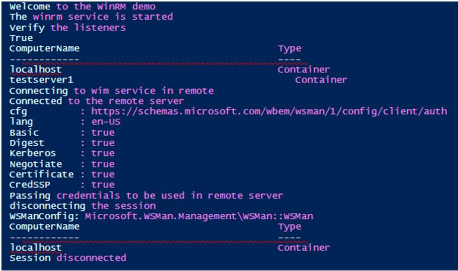 WinRM PowerShell -1.1