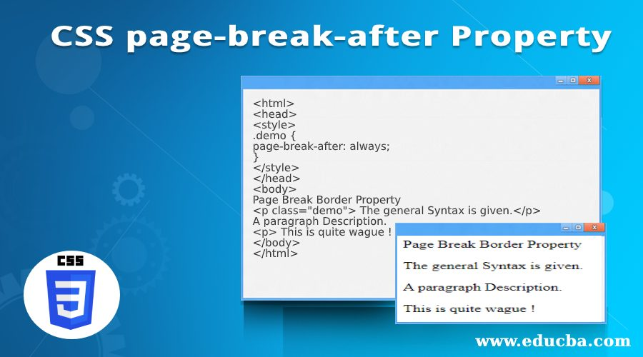 css page break after property