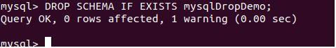 delete database mysql10