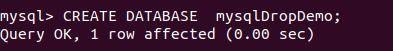 delete database mysql11