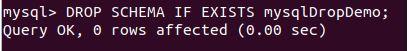 delete database mysql12
