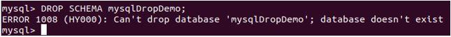 delete database mysql9