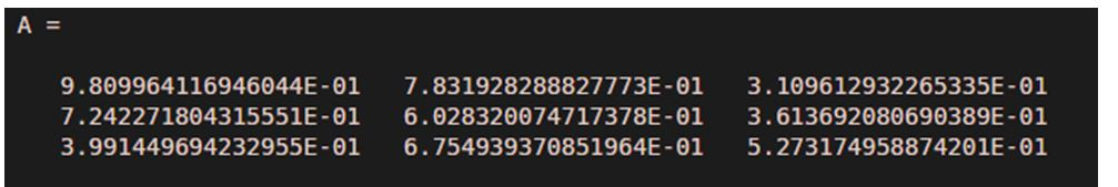 array of random numbers