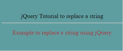 jquery replace string1