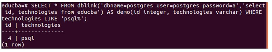 Open educba database command prompt