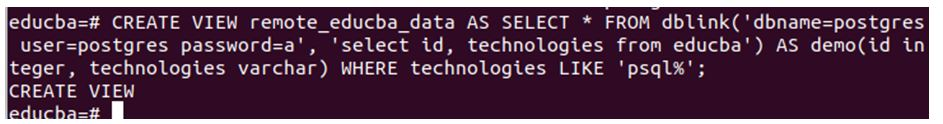 postgreSQL Link 6