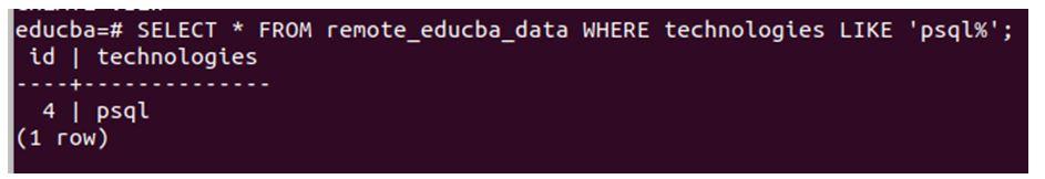 postgreSQL Link 7