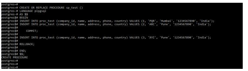 postgreSQL Stored Procedures 2