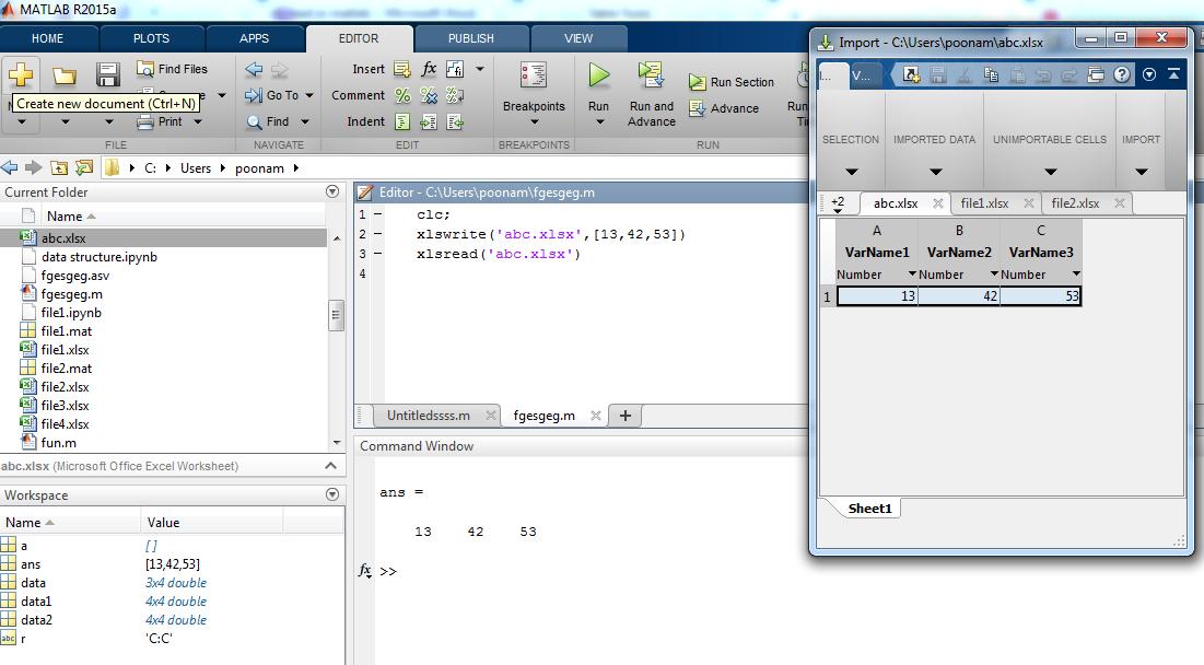 xlsread Matlab-1.1