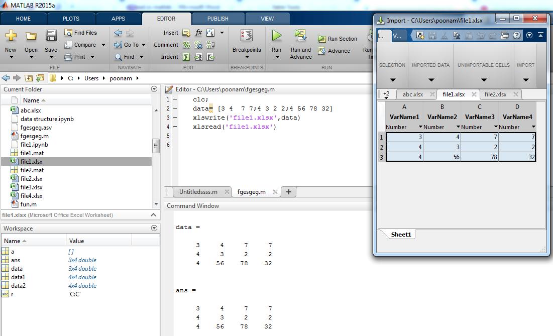xlsread Matlab-1.2