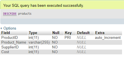 ALTER Column in MySQL Example 2