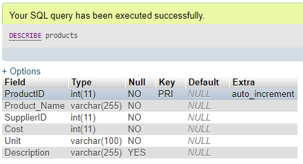 ALTER Column in MySQL Example 3