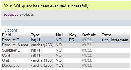 ALTER Column in MySQL Example 4