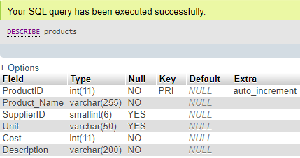 ALTER Column in MySQL Example 6