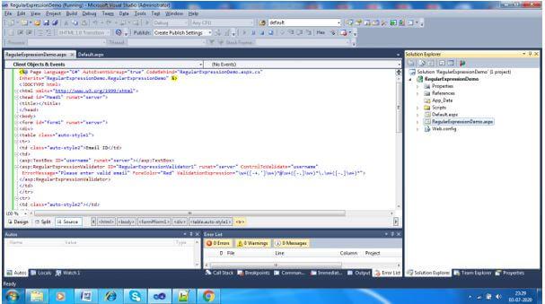 ASP.NET RegularExpressionValidator4