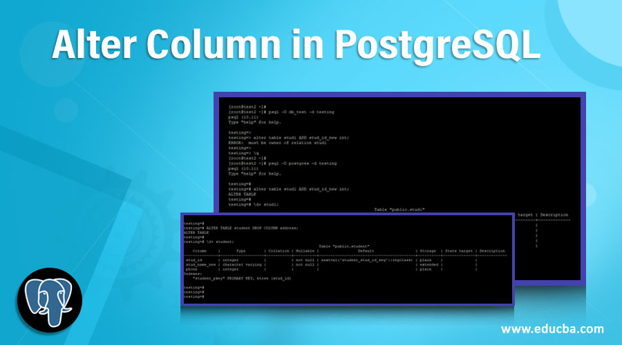 Alter Column in PostgreSQL