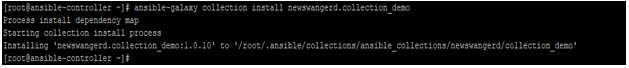 Ansible Collections output 1