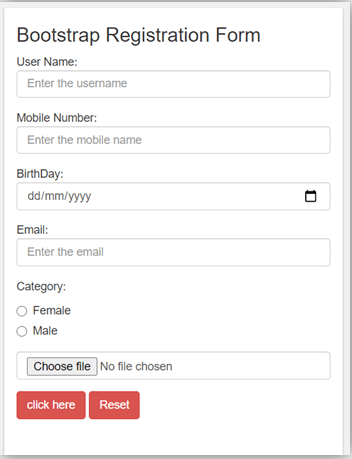 Bootstrap Input Type-1.1
