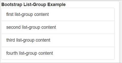 Bootstrap List Group - 1